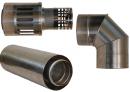 Коаксиальный дымоход для газовых каминов Karma Style 1000 мм в Саратове